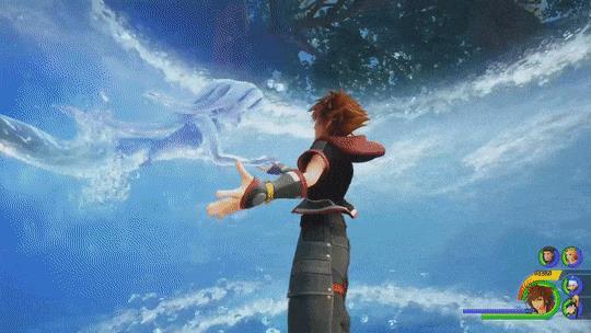 Ariel e Sora in una GIF di Kingdom Hearts 3