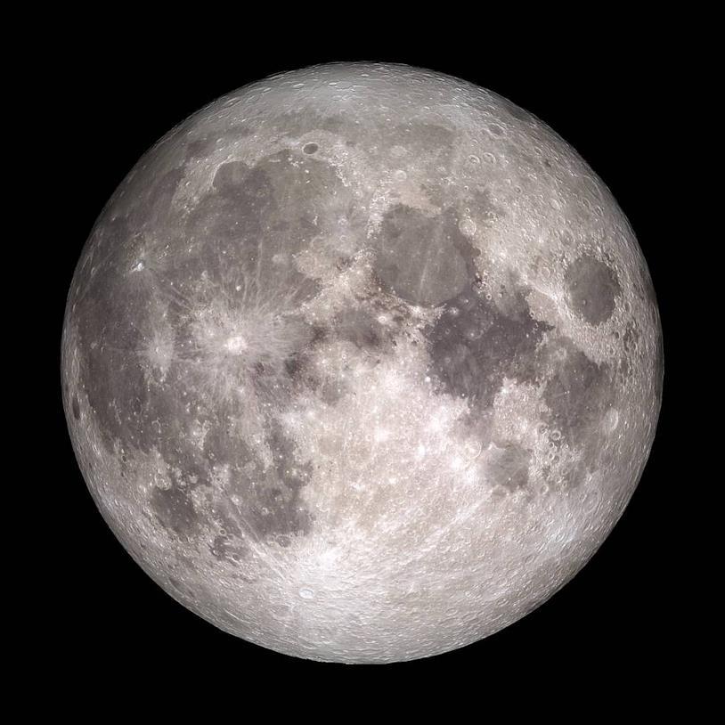 Un'immagine della Luna fornita dalla NASA
