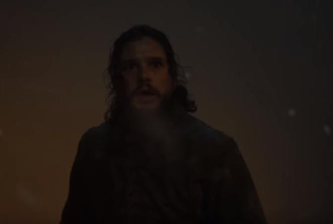 Jon Snow in una scena del terzo episodio dell'ottava stagione