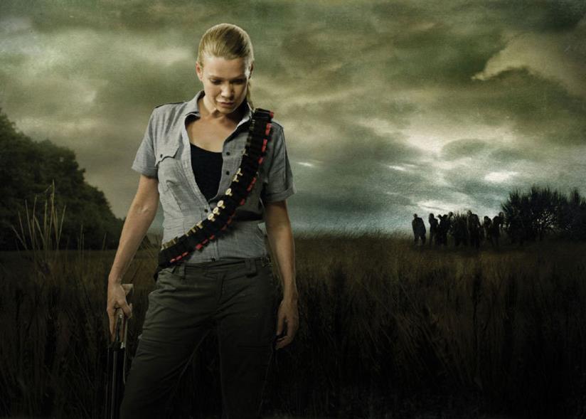 Andrea in una foto di The Walking Dead
