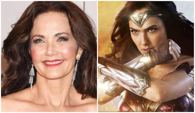 Collage tra Lynda Carter e Wonder Woman