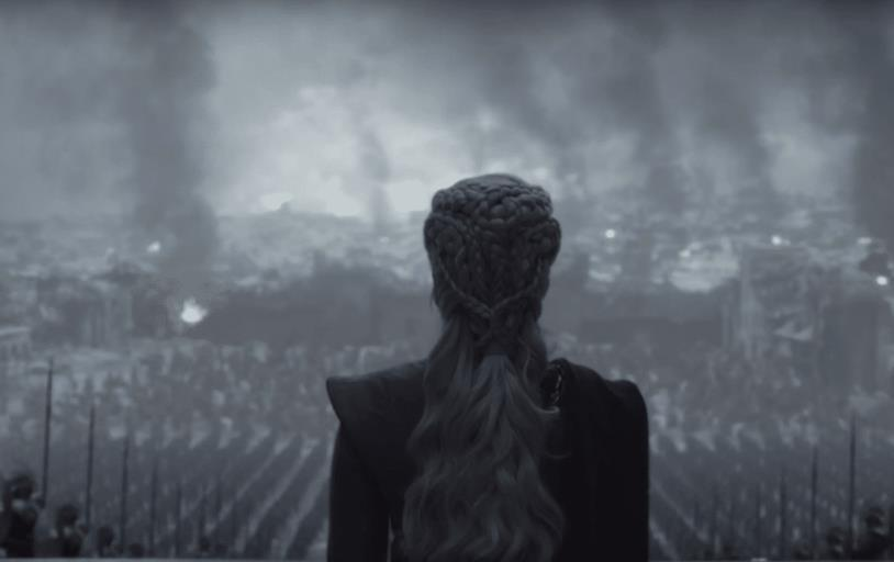 Daenerys nell'episodio finale di Game of Thrones