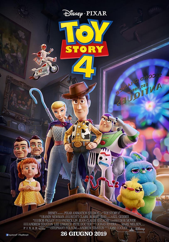 I protagonisti di Toy Story 4 nel nuovo poster italiano