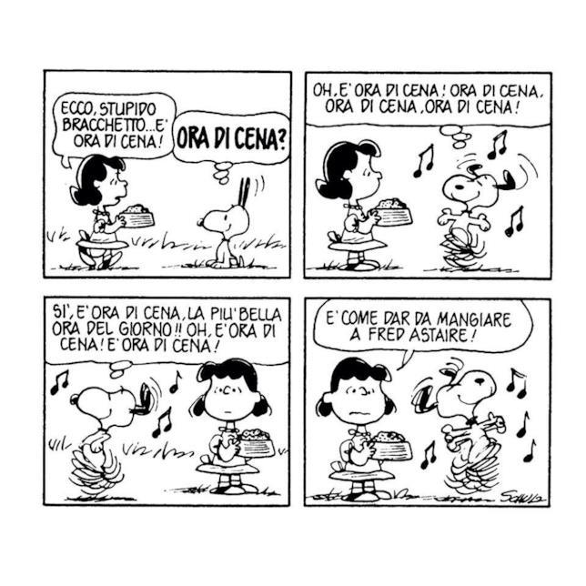 Una vignetta di Snoopy
