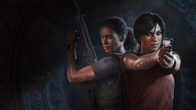 Nadine e Chloe in azione sulla cover di Uncharted: The Lost Legacy