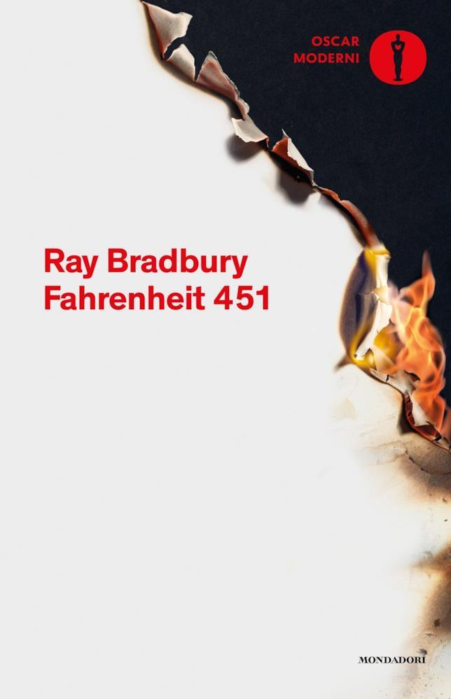 La copertina di Fahrenheit 451
