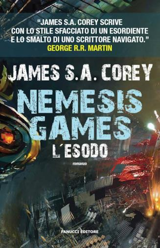 Copertina di Nemesis Games: L'Esodo, quinto romanzo della saga di The Expanse