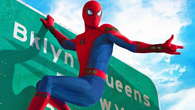 L'Uomo Ragno in una scena del nuovo Spider-Man: Homecoming