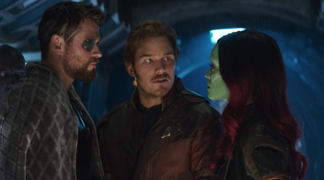 una scena di Avengers: Infinity War