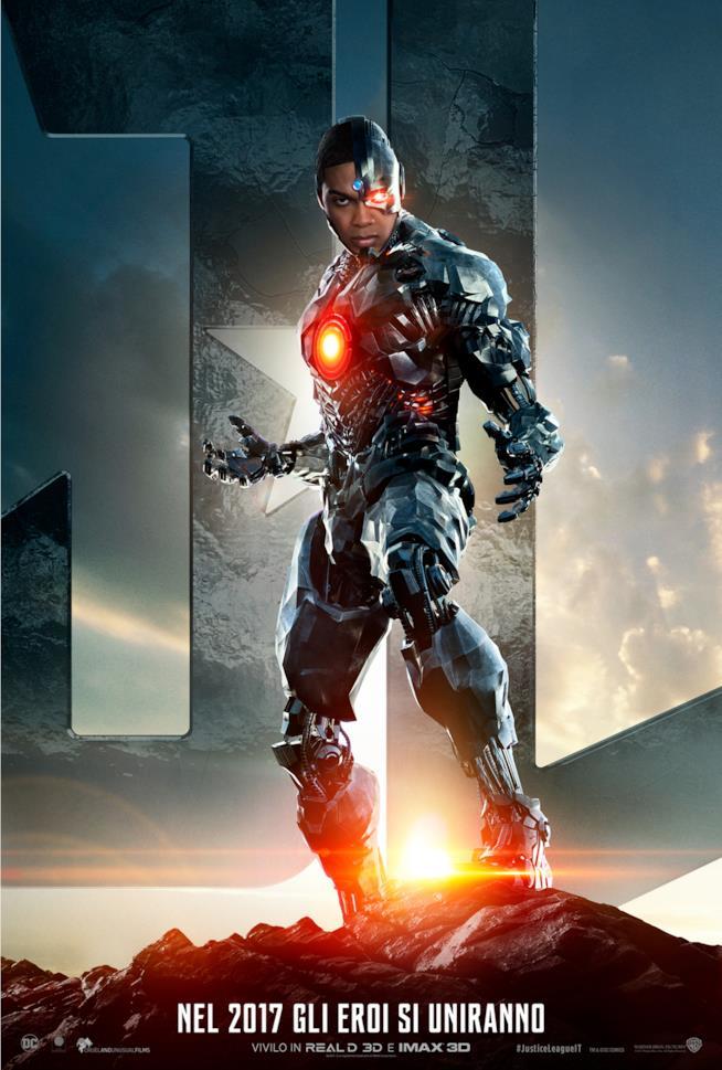 Il character poster italiano di Justice League dedicato a Cyborg