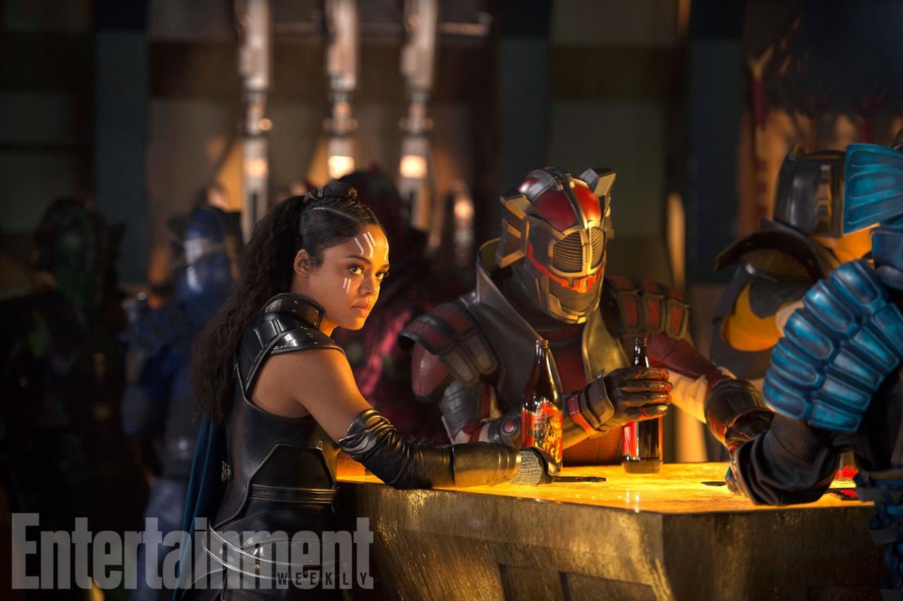 Tessa Thompson nei panni di Valchiria in Thor: Ragnarok