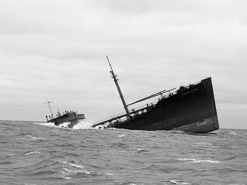 Il relitto della petroliera SS Pendleton