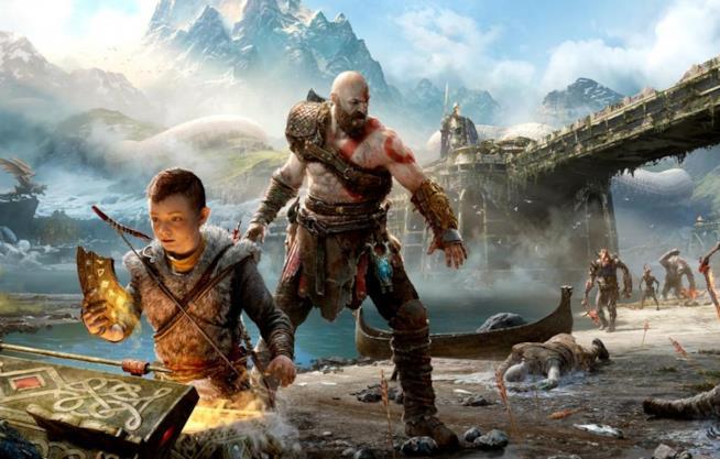 Atreus e Kratos in God of War