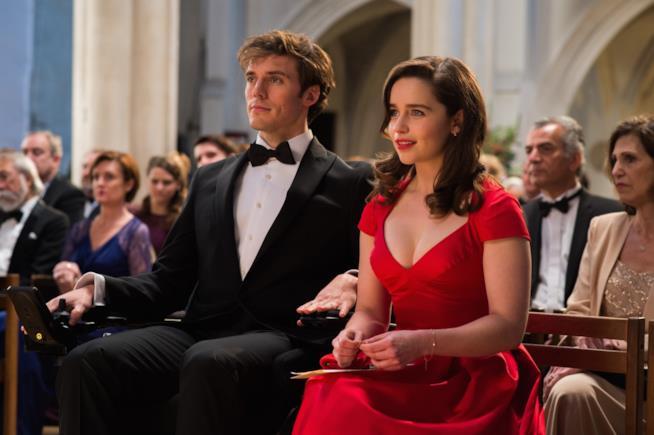Will e Lou in una scena del film Io Prima di Te