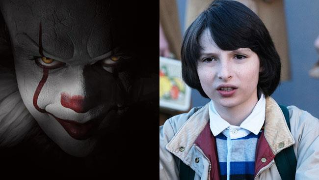 Il nuovo Pennywise e i protagonisti di Stranger Things