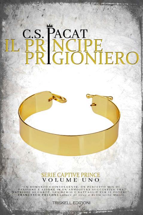 Il collare dorato degli schiavi sulla copertina di Il Principe Prigioniero