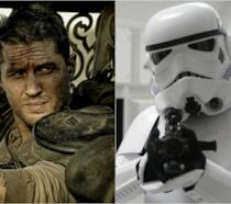 Tom Hardy accanto ad uno Stormtrooper