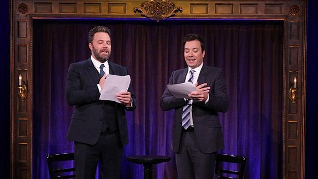 Ben Affleck e Jimmy Fallon al The Tonight Show