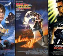 I poster di Harry Potter e la pietra filosofale, Ritorno al futuro e Blade Runner