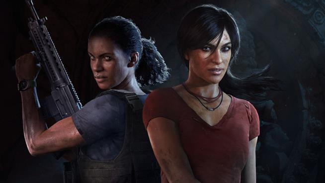 Nadine e Chloe posano sulla copertina di Uncharted: L'Eredità Perduta