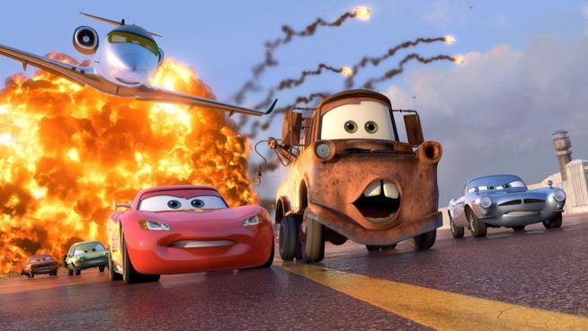 Una scena di Cars 2