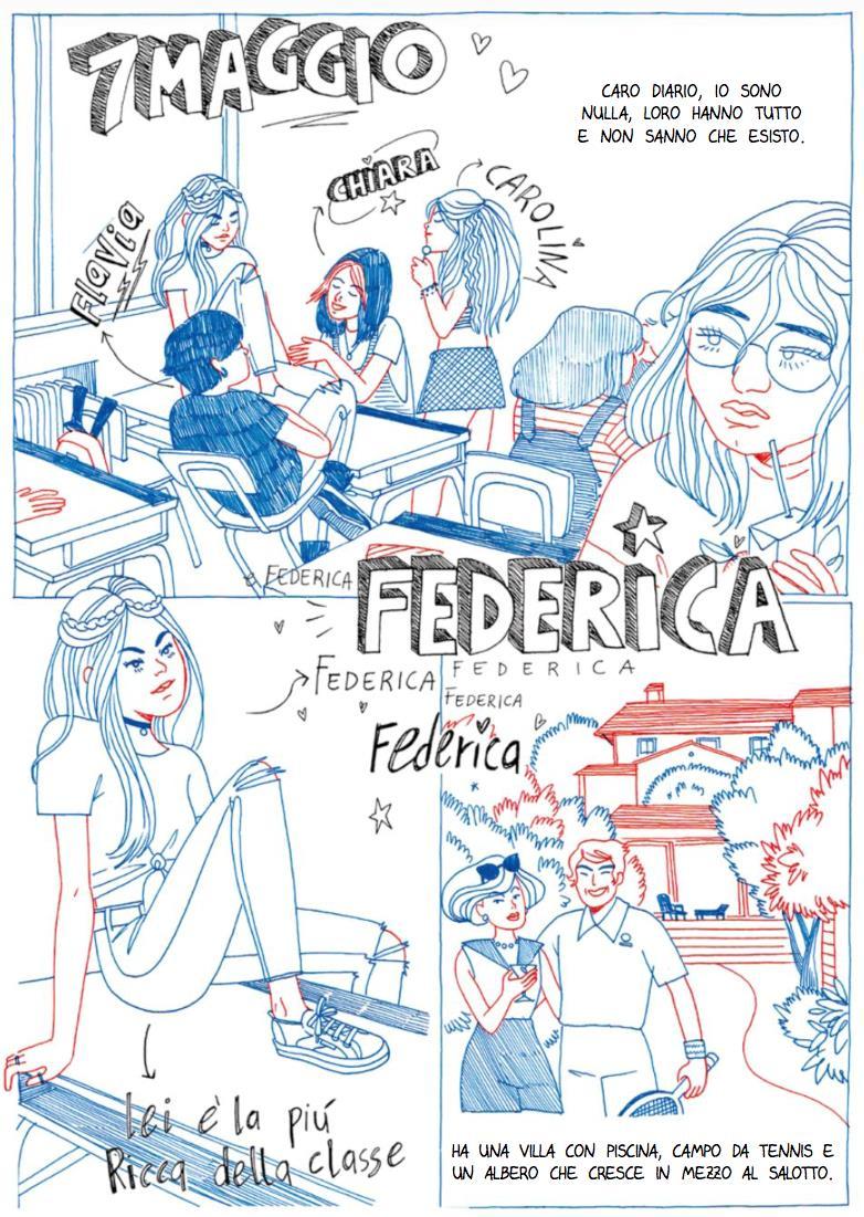 Federica, la ragazza più invidiata della scuola
