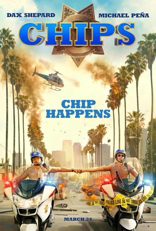 Dax Shepard e Michael Peña protagonisti di CHiPs