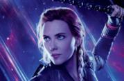 Un'immagine di Black Widow nel poster di Avengers: Endgame