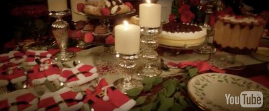 La tavola imbandita in A Bad Moms Christmas