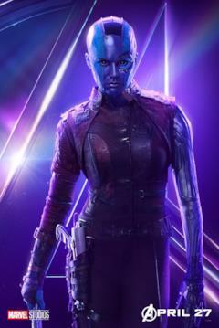 Il poster del personaggio di Nebula