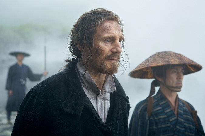 Liam Neeson in una scena di Silence