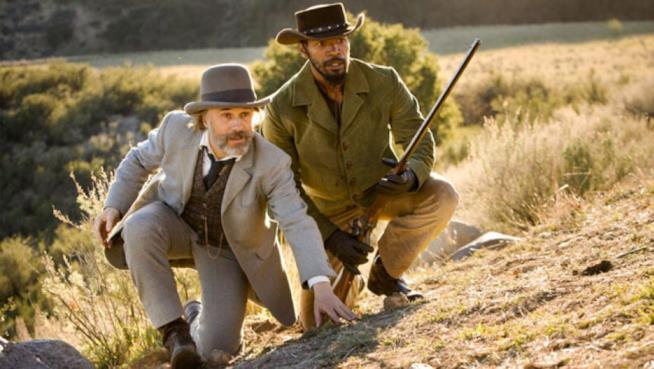 Django e il dott. Schultz in una sequenza di Djanjo Unchained