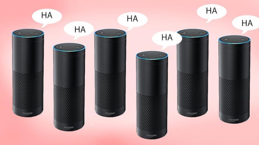 Amazon Alexa, assistente personale di Amazon, ride di gusto