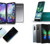 Un collage con alcuni smartphone presentati