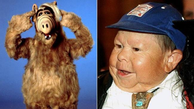 Mihaly Michu Meszaros e il suo alter ego televisivo, Alf