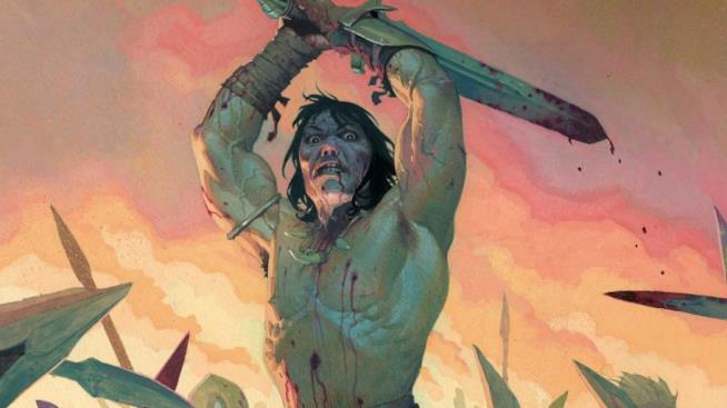 Conan in un'illustrazione di Esad Ribic