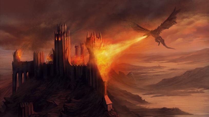 Aegon I distrugge Harrenhal