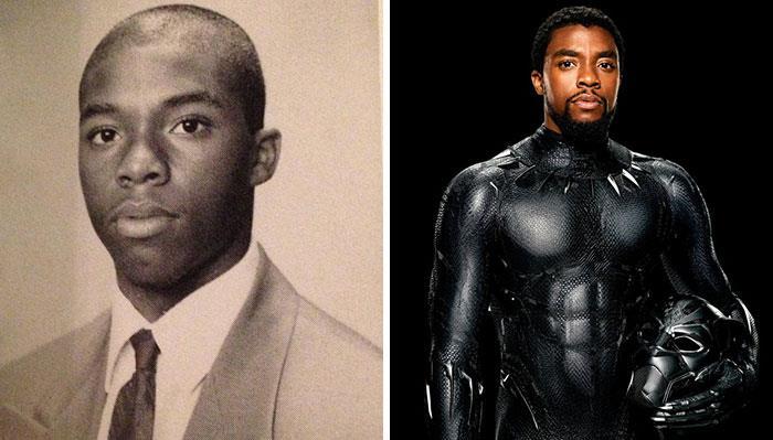 Chadwick Boseman (Black Panther) da adolescente e nei film Marvel