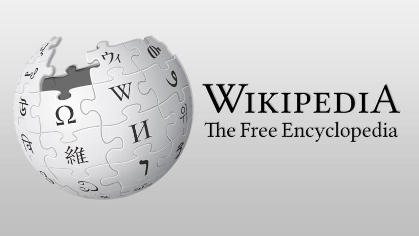 Logo e slogan di Wikipedia