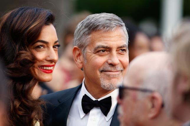 George Clooney con la moglie Amal