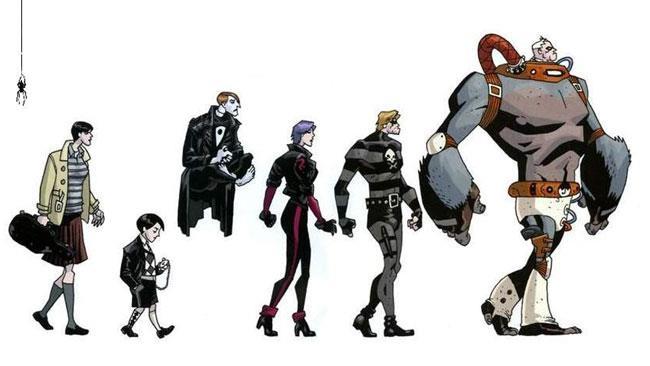 I sei protagonisti principali di Umbrella Academy