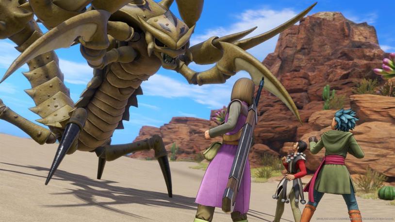 I protagonisti durante lo scontro con un mostro