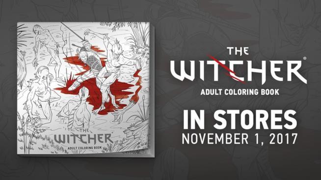 The Witcher diventa un albo da colorare per adulti