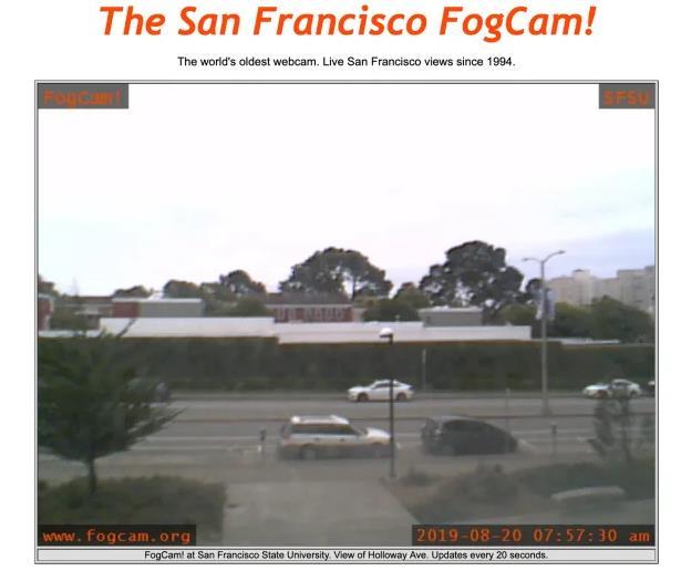 Immagine di una ripresa della FogCam di San Francisco