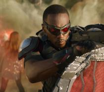 Anthony Mackie come Falcon nel Marvel Cinematic Universe