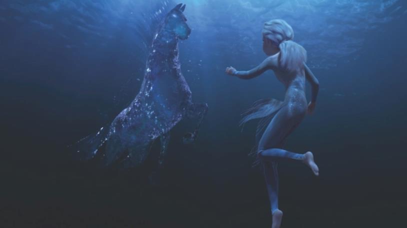 Elsa in acqua incontra il Nokk