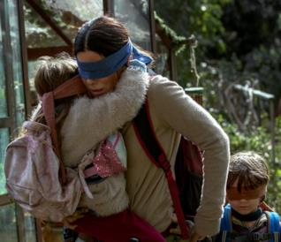 Bird Box, un'immagine dal film con Sandra Bullock