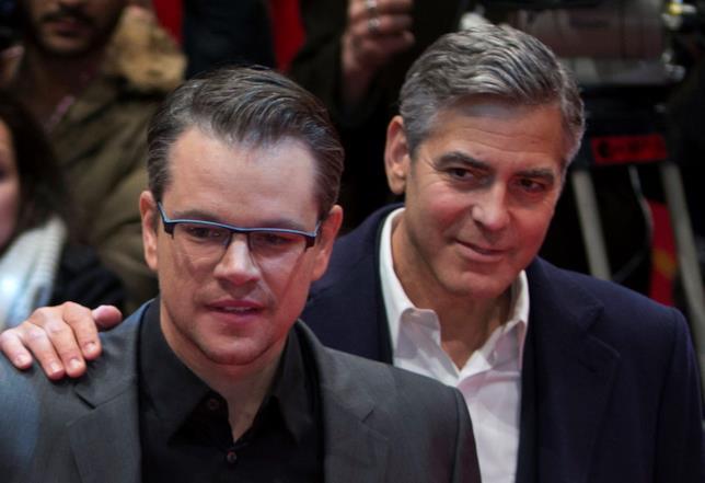 George Clooney con l'amico Matt Damon