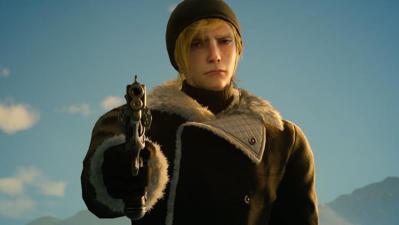 Prompto impugna la sua pistola nel nuovo DLC di Final Fantasy XV