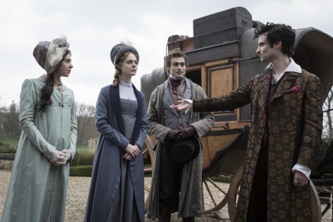 Una scena dal film Mary Shelley